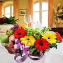 Mixed Gerberas & Fruits Basket