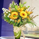 10 Orange Gerbera in Glass Vase--kindly order 1 day in advance