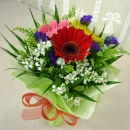 3 Mixed Gerberas Handbouquet