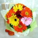 12 Mixed Gerberas Handbouquet