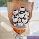 6 Graduation Teddy Bear (4 inches Height) Hand Bouquet