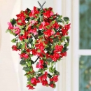 Fake Red bougainvillea Hanging Plant 50 cm Height