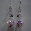 Add on Ear Rings - Flower-E Pink Purple