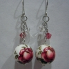 Add on Ear Rings - Flower-E Red