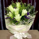 6 white Lily Handbouquet Long Wrapping