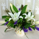 White Lilies Table Arrangement