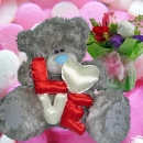 Me2u (LOVE) Bear & 3 Roses Bouquet