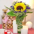 Sunflower bouquet and Ferrero Rocher
