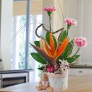 3 Carnation & Bird Of Paradise Arrangement