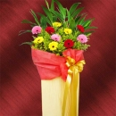 Mixed Colour Gerbera Grand Opening Flower Stand about 5 Ft Height