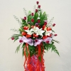 White Lilies & Red Roses Arrangement