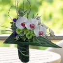 Phalaenopsis Orchids Triangle Design Bouquet