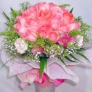 24 roses Peach color hand bouquet