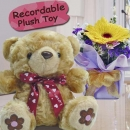 "6"" Recorder Bear & Gerbera"
