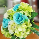 Artificial Roses & Hydrangeas Handbouquet