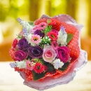 Small Artificial Mini Roses Hand Bouuquet
