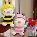 3 Red Rose Standing Bouquet & 18cm Bee ( Choose One Color Only)