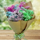 Rainbow Baby�s Breath Hand Bouquet