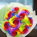 9 Handmade Rainbow Rose Soap HandBouquet