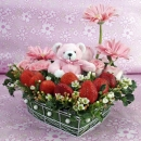Bear/Flower Arrangement