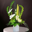 White Anthurium Fresh Flowers Arrangement