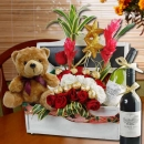 Flowers & Wines Basket Delivery