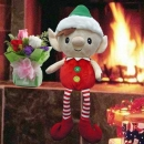 Magic (Recordable) Message elf & Roses Bouquet