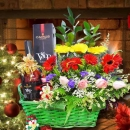 AMUS VSOP Elegance Cognac 70cl & Mixed Flowers Arrangement