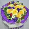 12 Yellow Roses Hand Bouquet